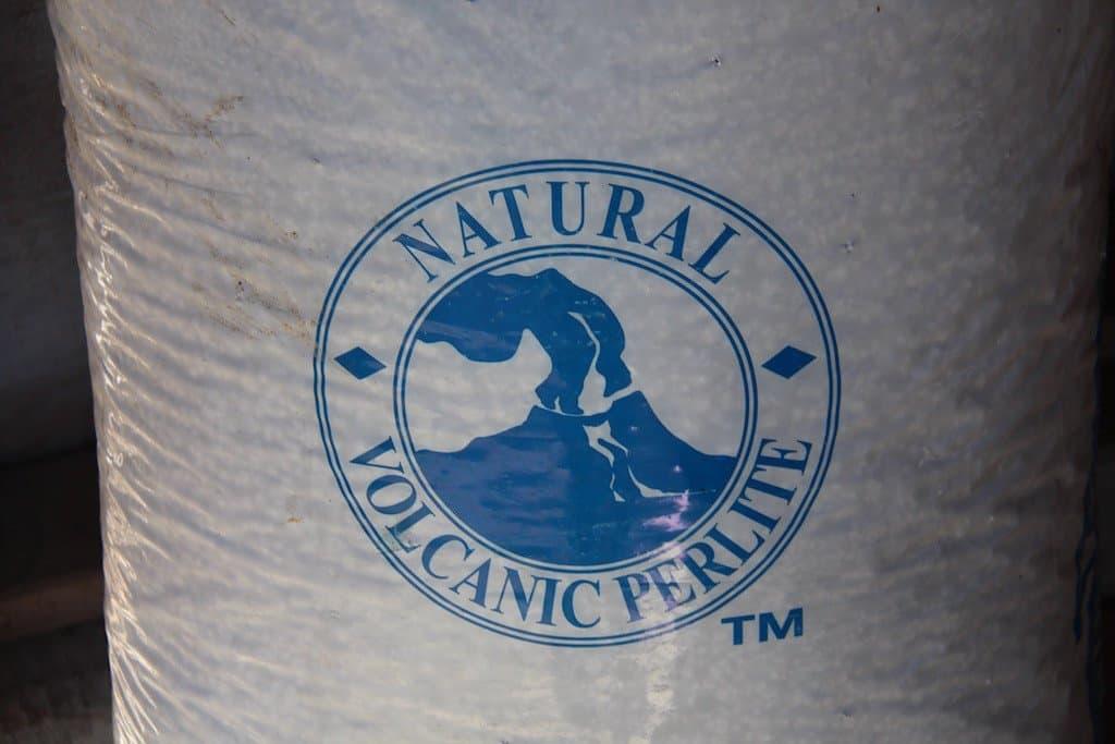 Bag of perlite for sale at garden centre