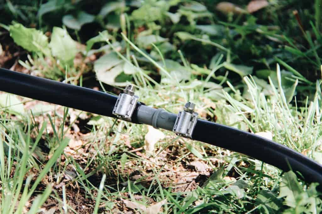 Drip Irrigation Connection | Home for the Harvest Gardening Blog
