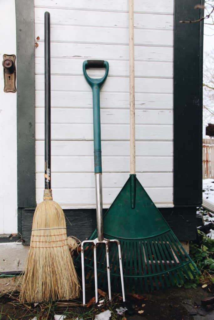 Tools for fall yard clean up and other autumn outdoor tasks
