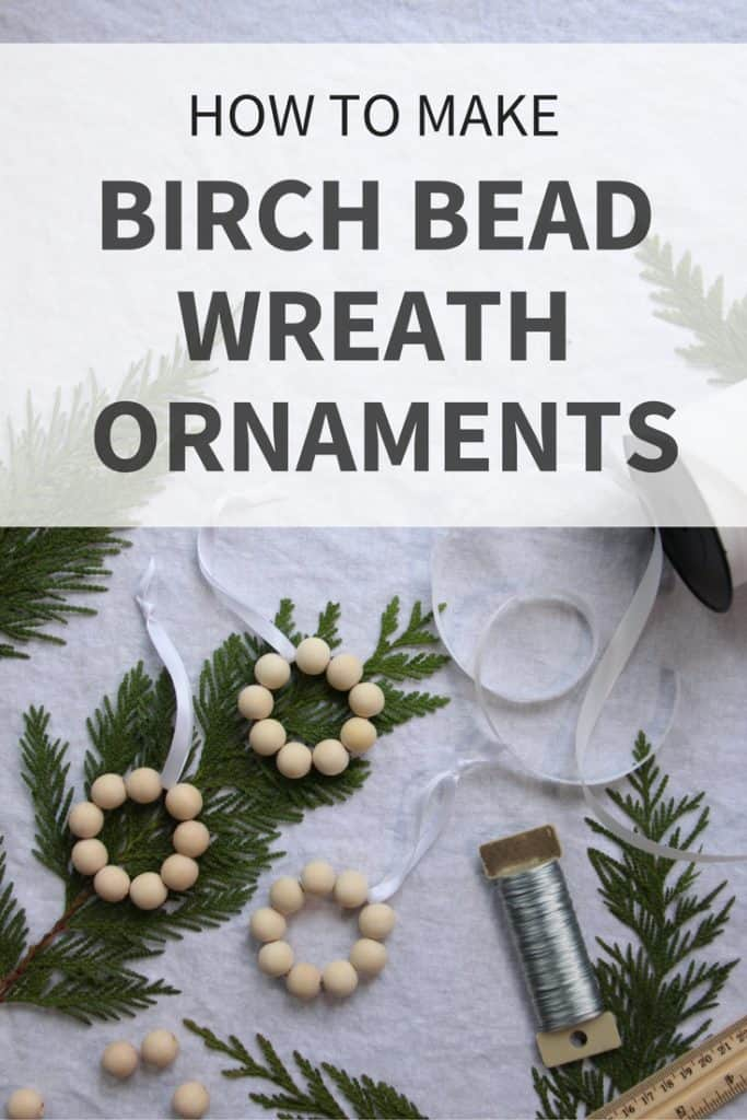 Birch Wood Bead Wreath Ornament Tutorial | Home for the Harvest