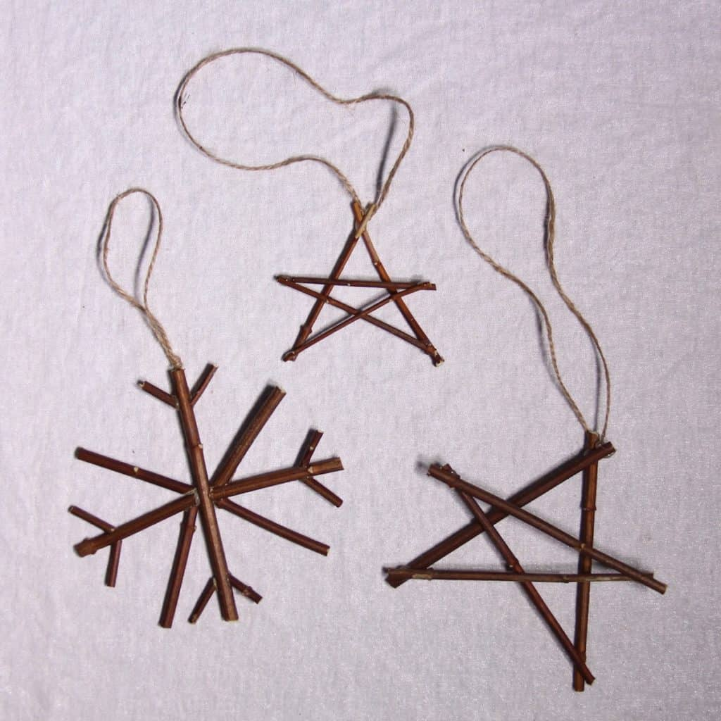 Natural Christmas Decorations - Snowflake and Star Twig Ornaments | Home for the Harvest
