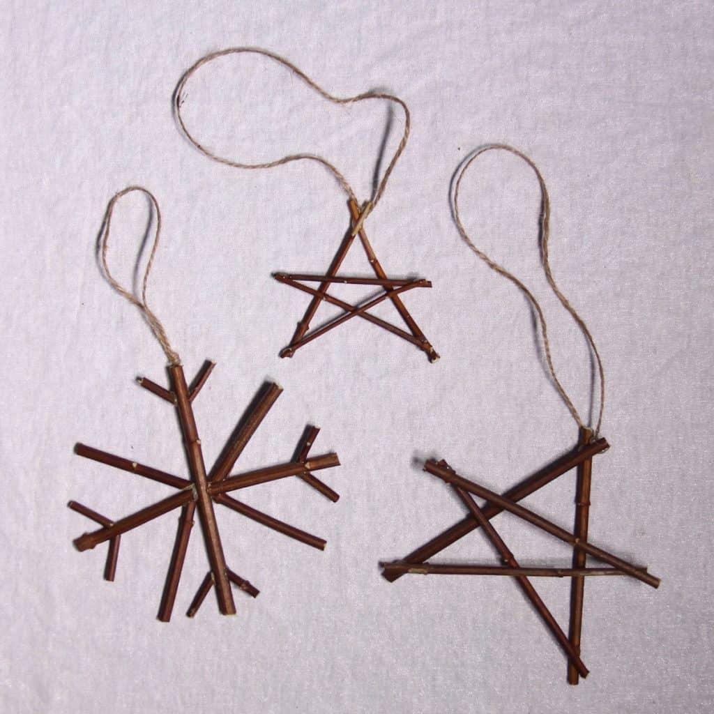 Twig Snowflake and Stars