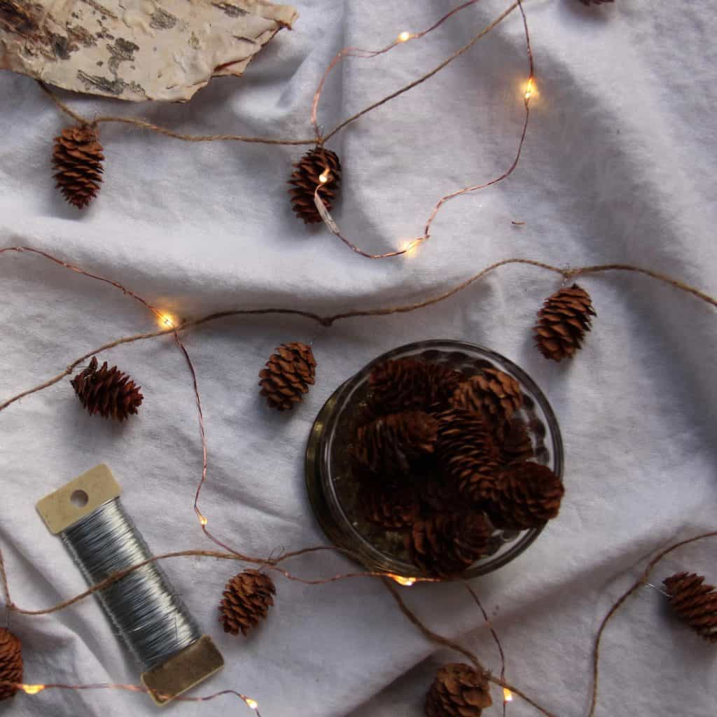 Simple Natural Christmas Decoration - Pinecone Garland | Home for the Harvest