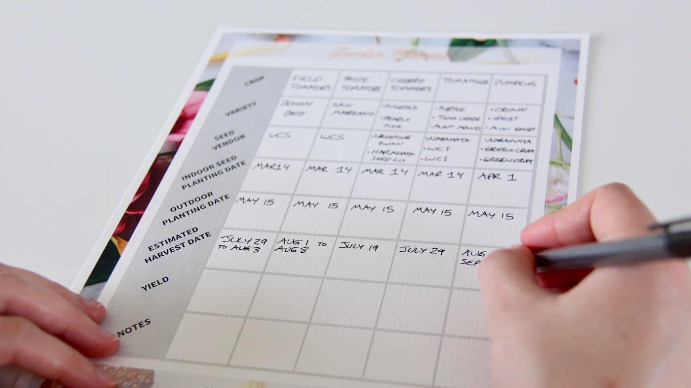 Starting a Garden - How to Make a Garden Planting Schedule | Home for the Harvest