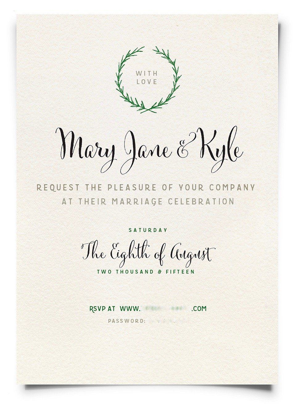 Designing your own DIY wedding e-vites is a simple alternative to mailing invitations | Home for the Harvest