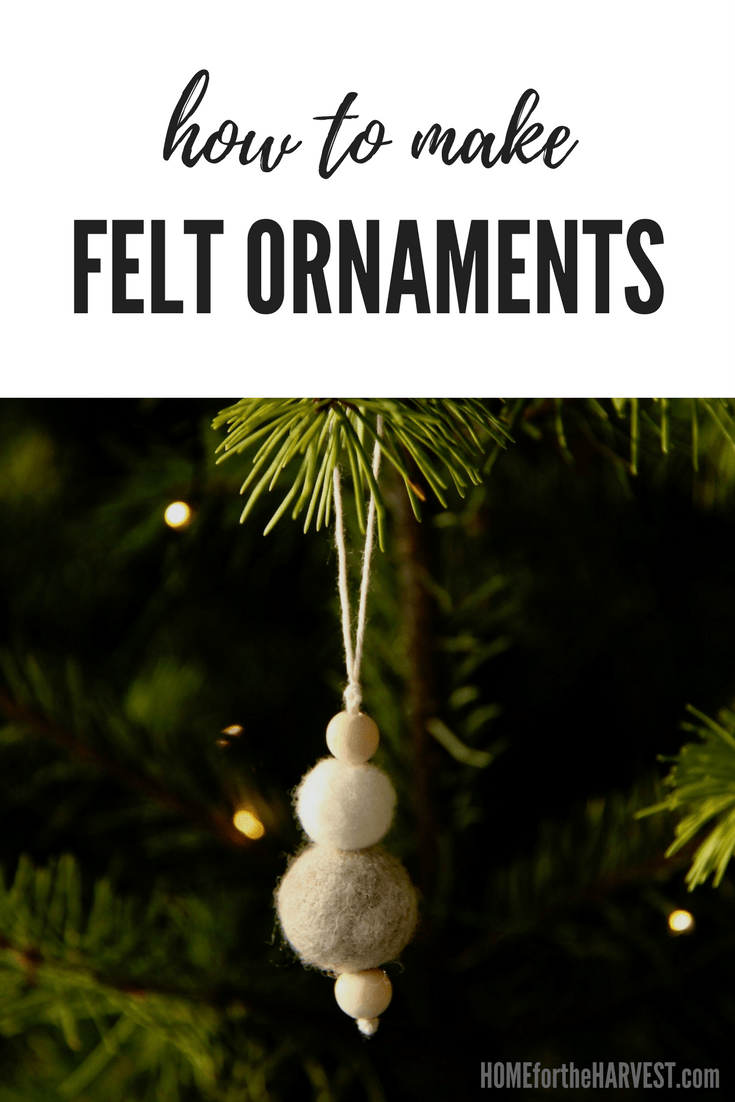 It was so easy to make! These felt ornaments are the perfect Christmas craft to give to your friends this holiday. Learn how to make felt ornaments with this DIY tutorial! #feltornaments #feltedornaments #howtomakefeltornaments #feltChristmasornaments
