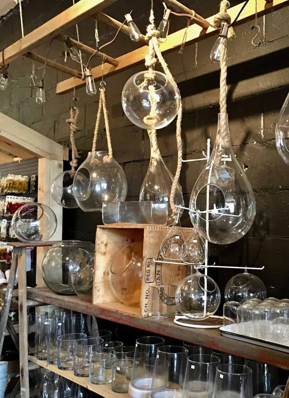 these beautiful hanging garden glass terrarium globes make perfect gifts for gardeners