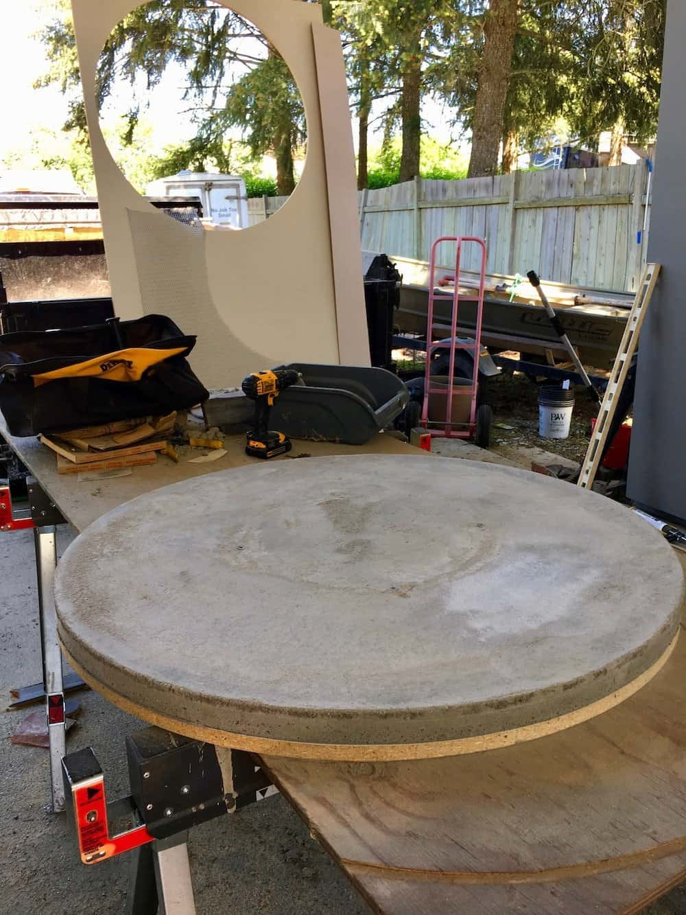 How To Make A Round Concrete Table Top Home For The Harvest