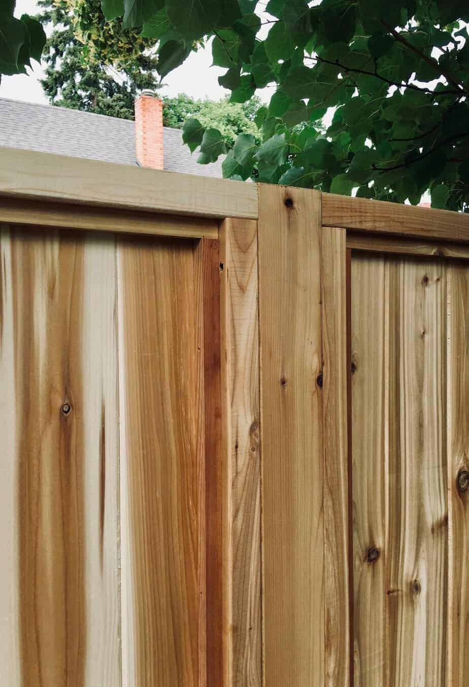Wood fence panels for a wooden privacy fence