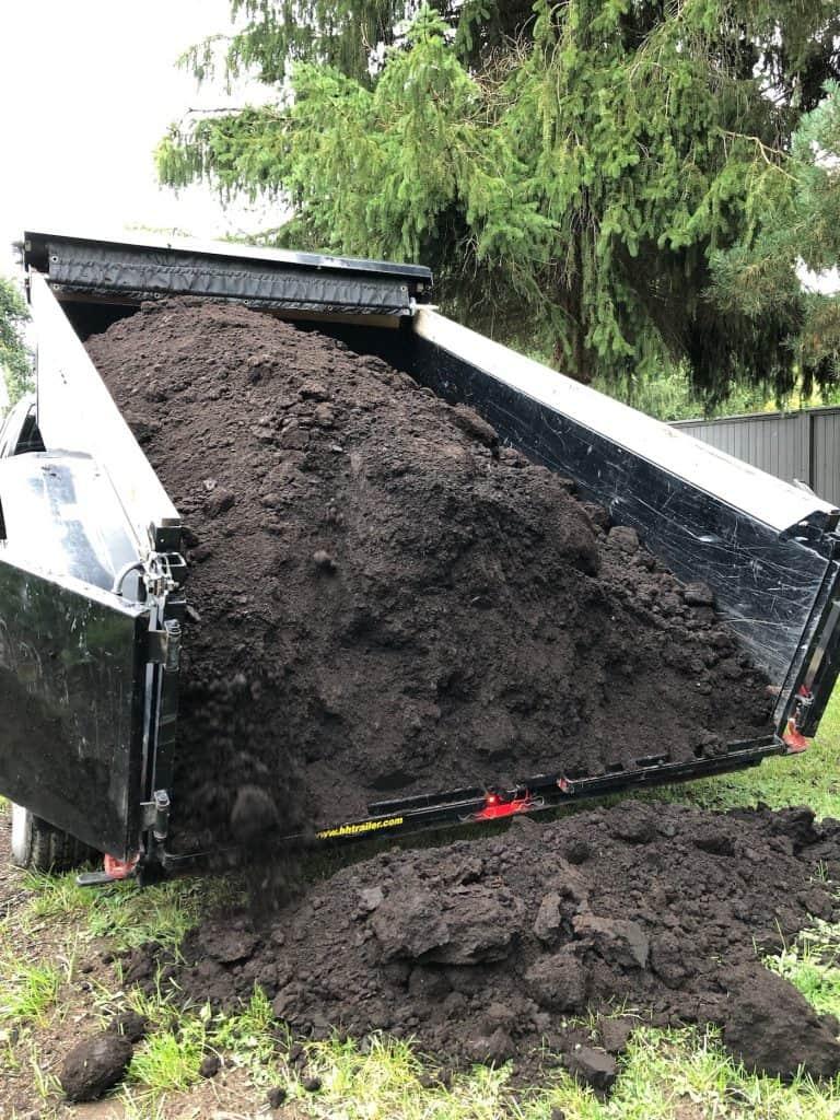 Buying Garden Soil or Topsoil in Bulk - Dump Trailer