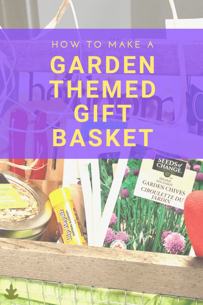 garden themed gift basket