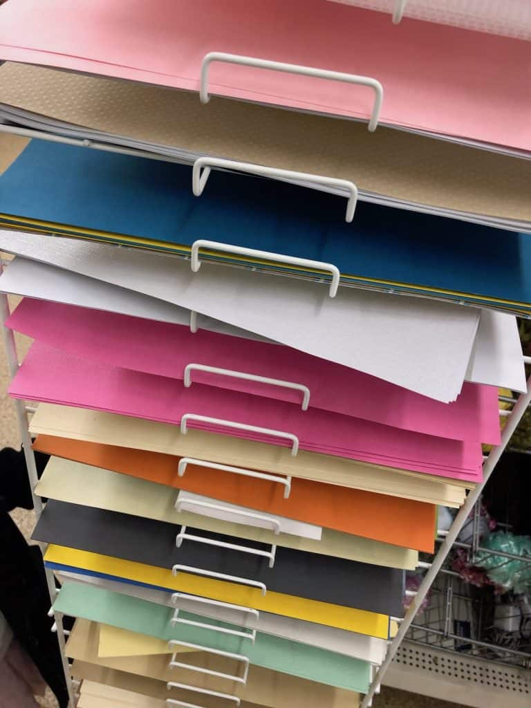 Cardstock and Scrapbook Paper Rack