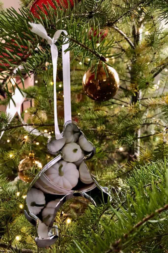 Cookie cutter pumpkin bear tree ornament