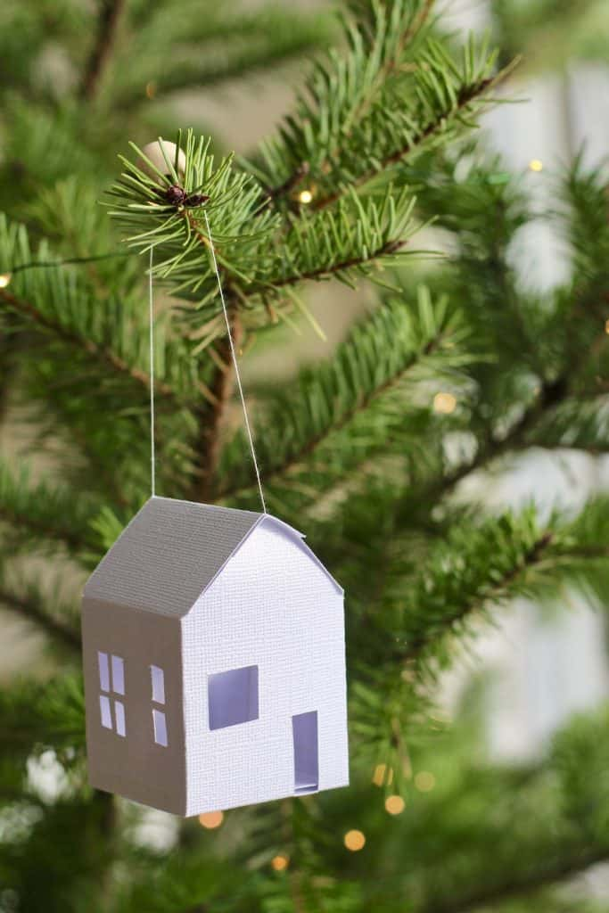 DIY Paper House Ornaments