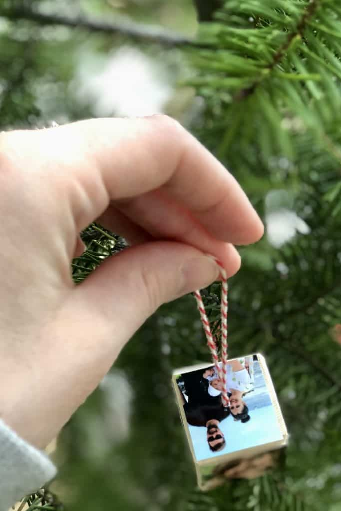 DIY Photo Cube Christmas Tree Ornament