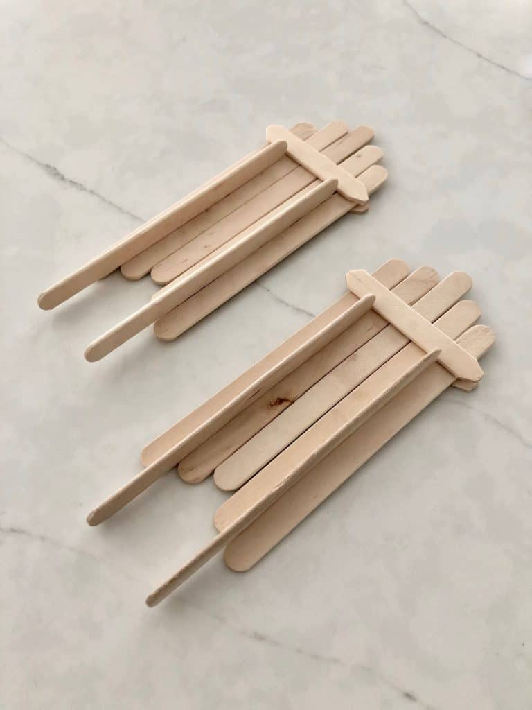 Dry Popsicle Stick Sleds