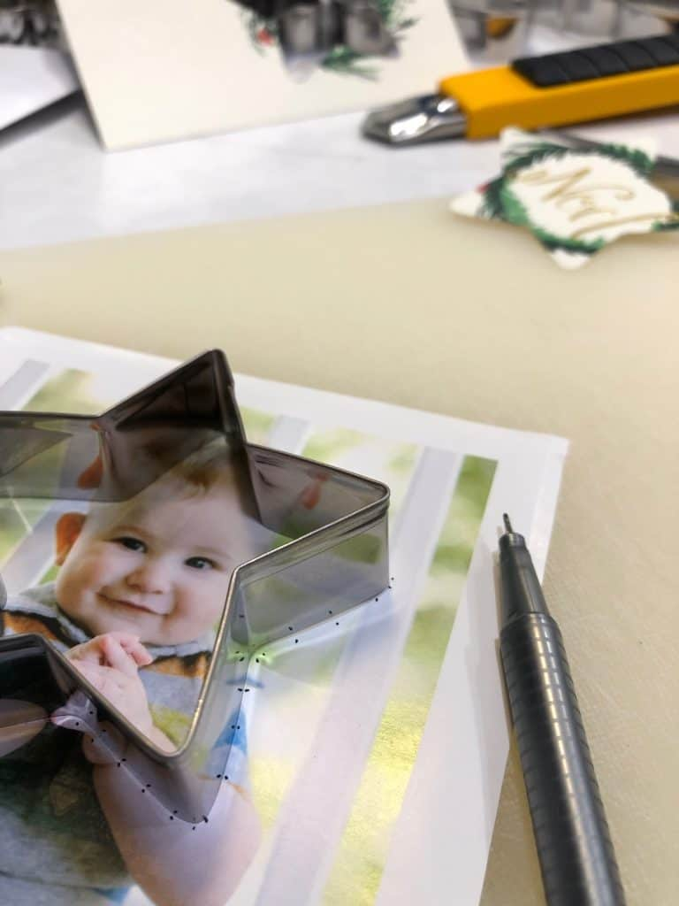How to Use a Cookie Cutter to Cut a Photo Into a Star Shape