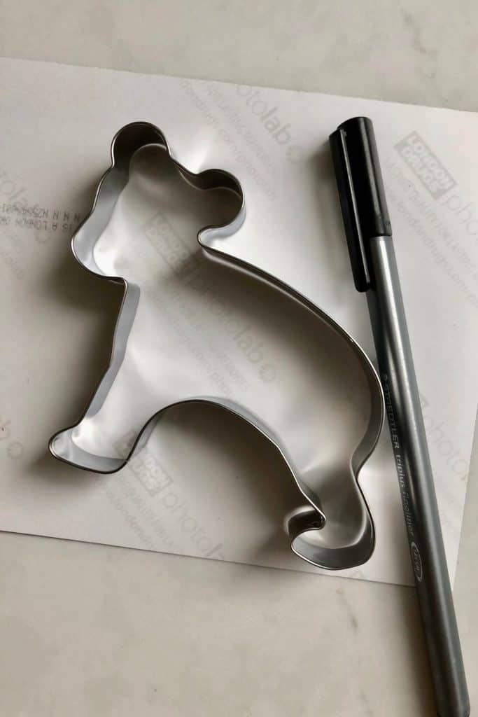 Tracing photo to match metal cookie cutter