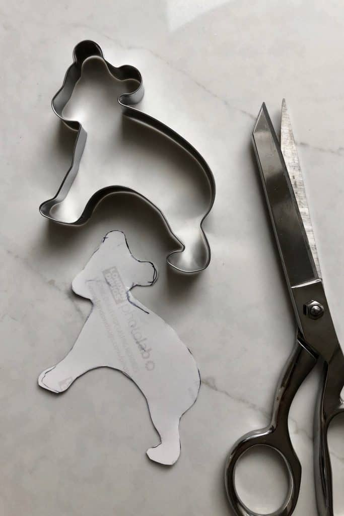 Tracing photos for cookie cutter memory tree ornaments