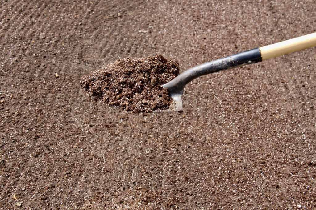 Perlite used in soil preparation for a new lawn