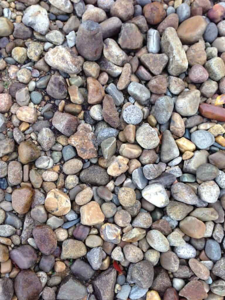 Colorful pea gravel - close-up of pebbles