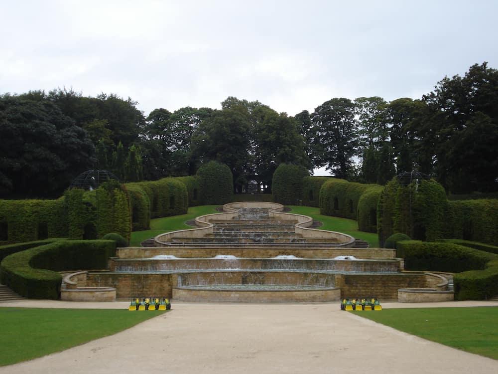 Fine Pea Gravel Entrance to Formal British Garden