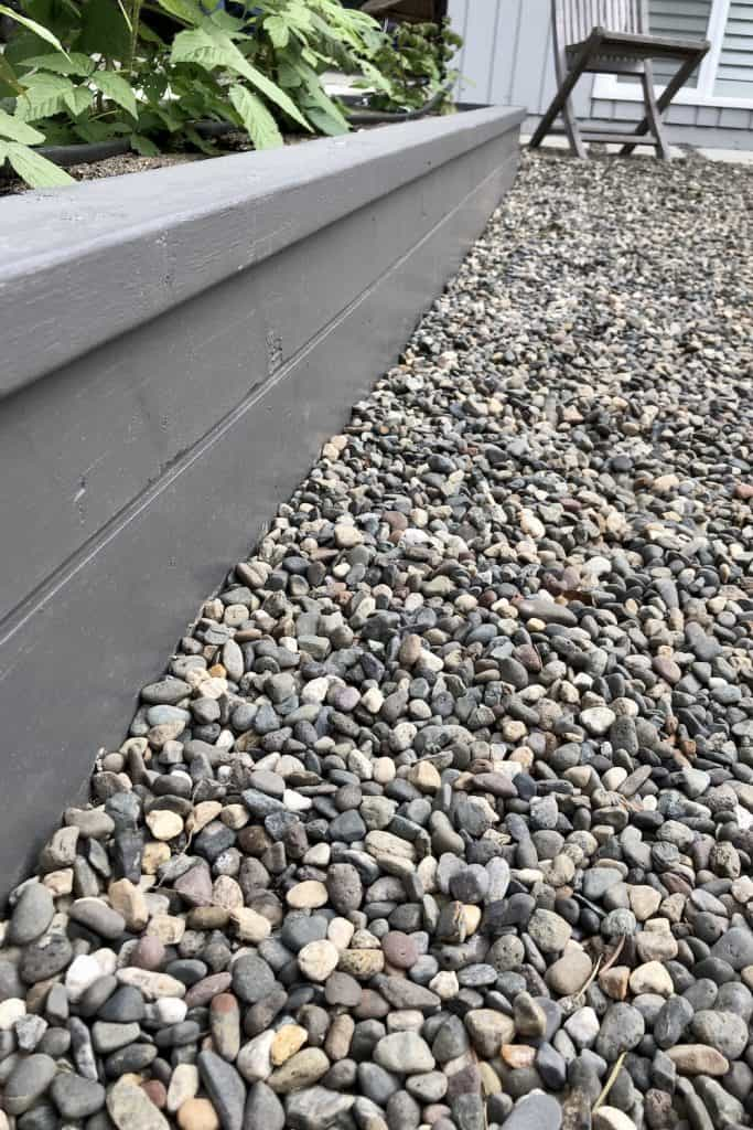 Pea gravel patio - close up of gravel surface