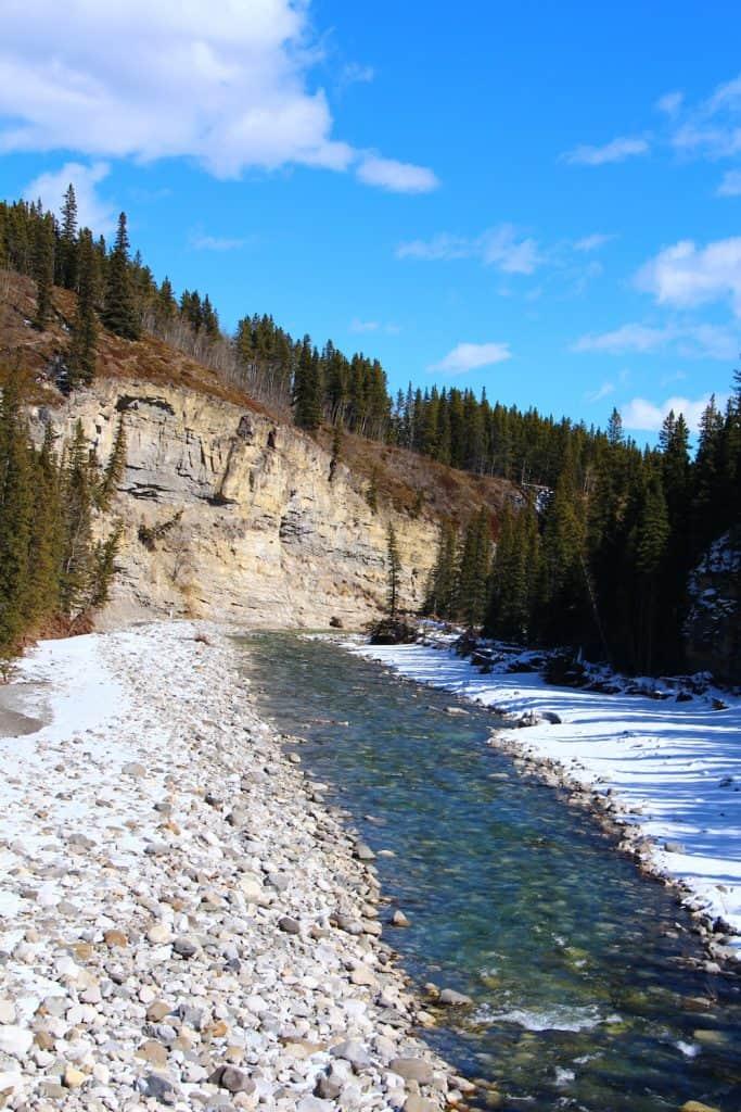 Riverbed in spring