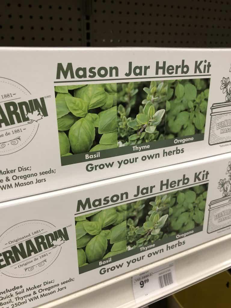 Mason Jar Herb Kit Box Gift