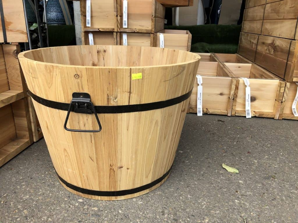 Ornamental barrel planter