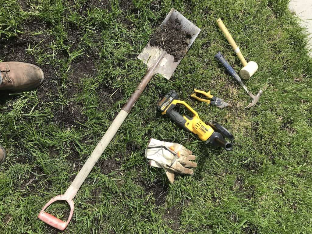 tools for keeping mulch in place - yard work tips