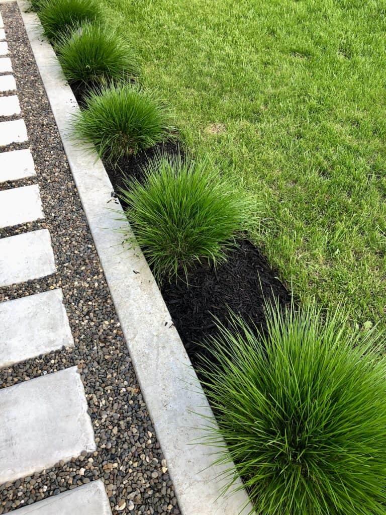 Poured Concrete Garden Edging for Modern Look