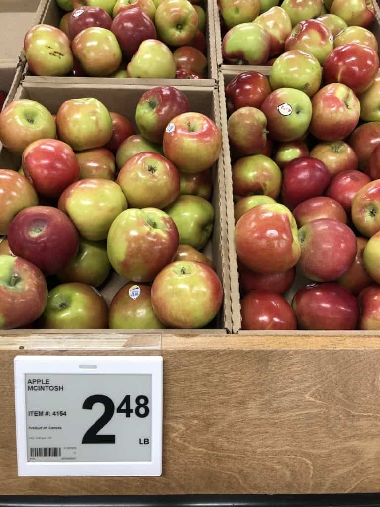 McIntosh Apples in the Grocery Store