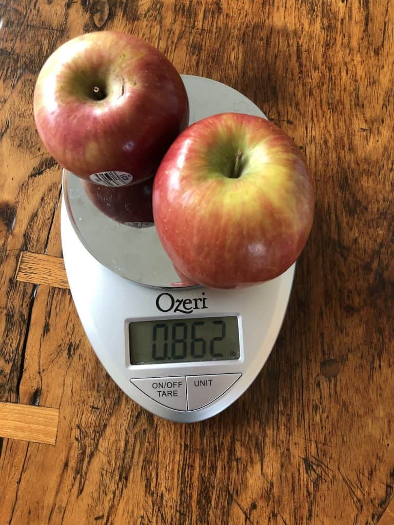 One pound of fuji apples