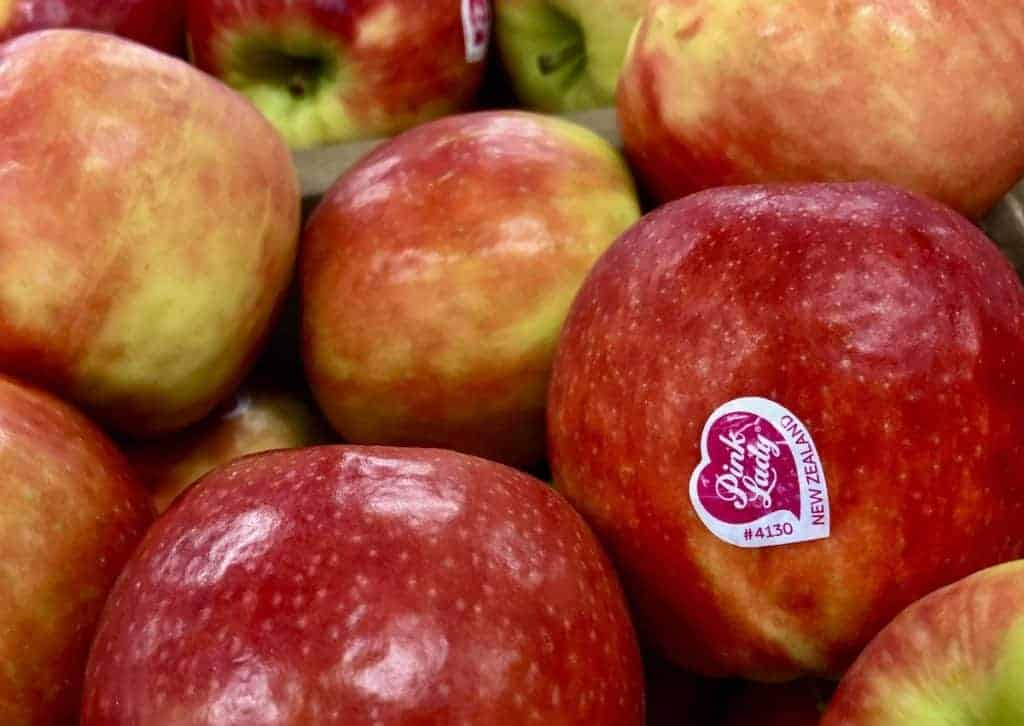 Pink Lady Apples with Sticker (Cripps Pink Variety)