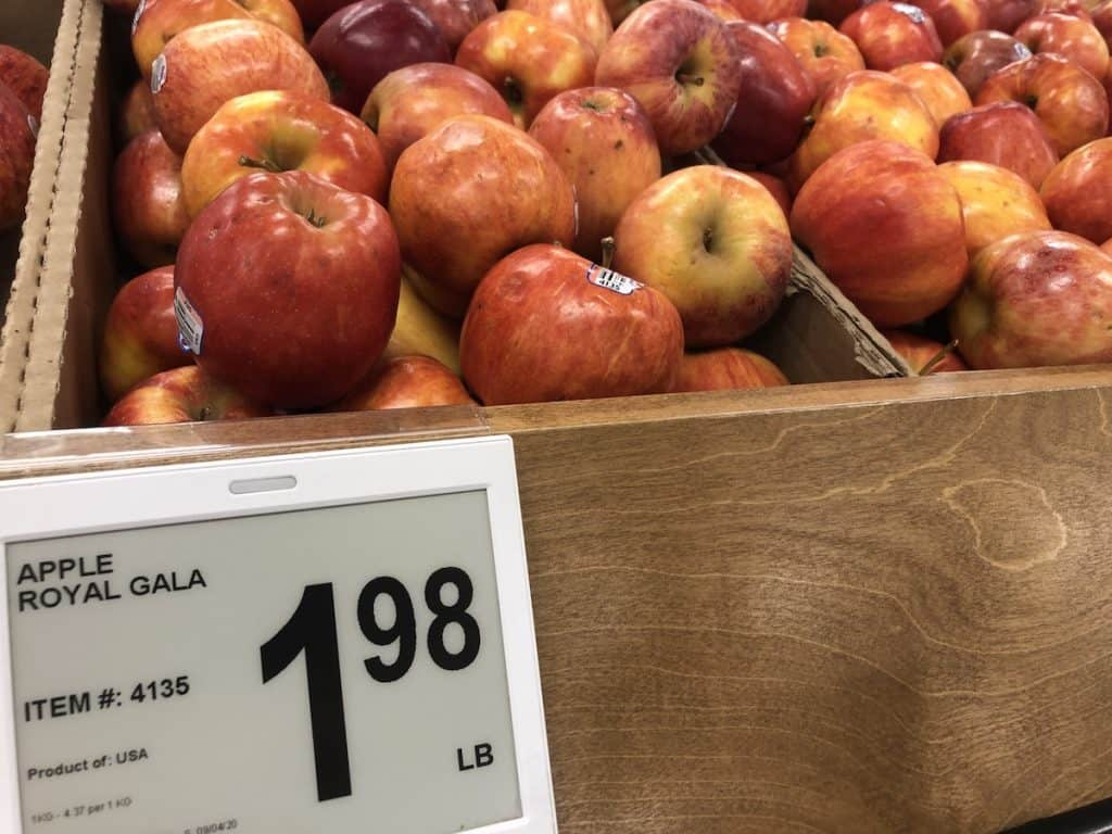 Royal Gala Apples at Grocery Store