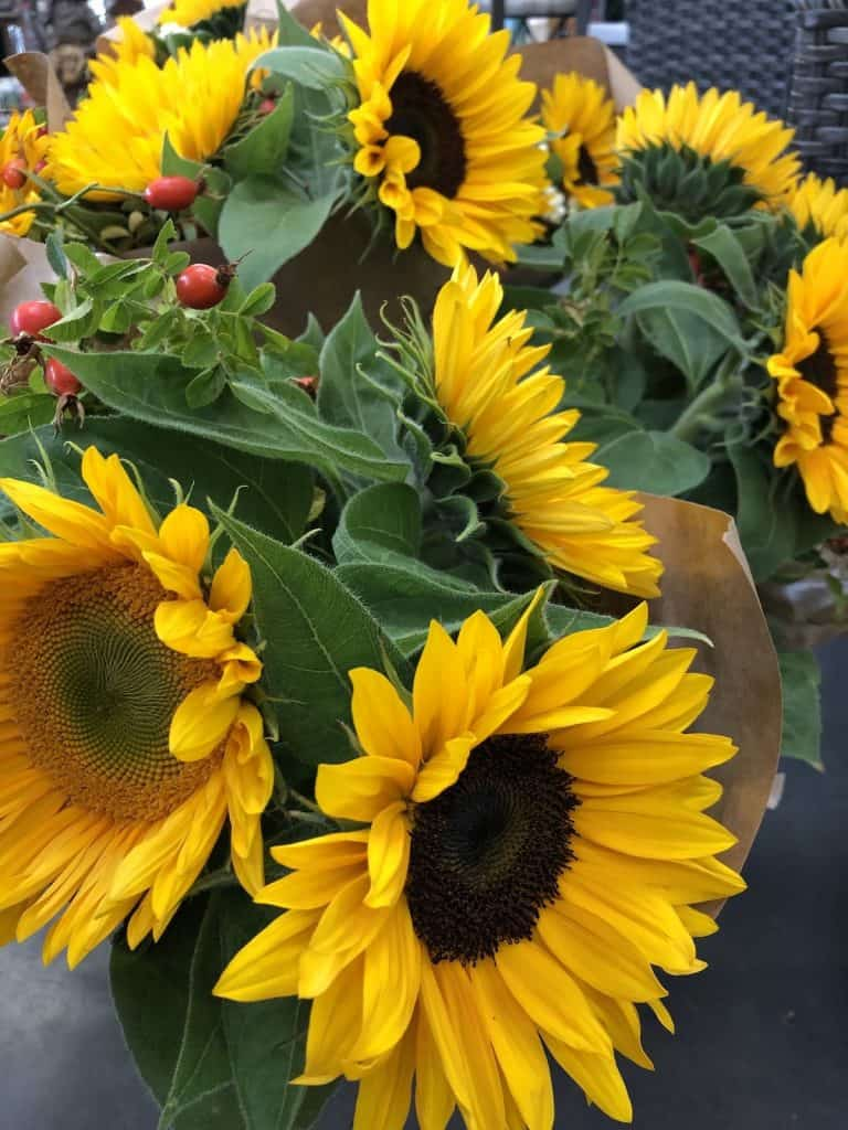 Sunflowers for Front Porch Decor in Autumn
