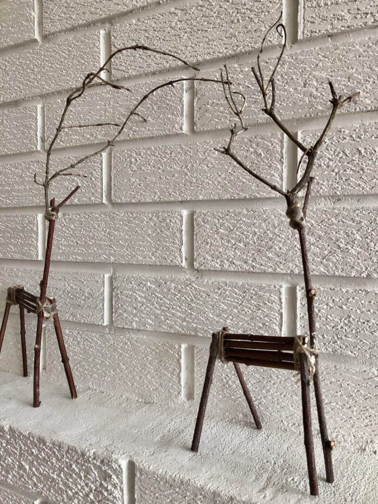 twig Christmas reindeer decorations