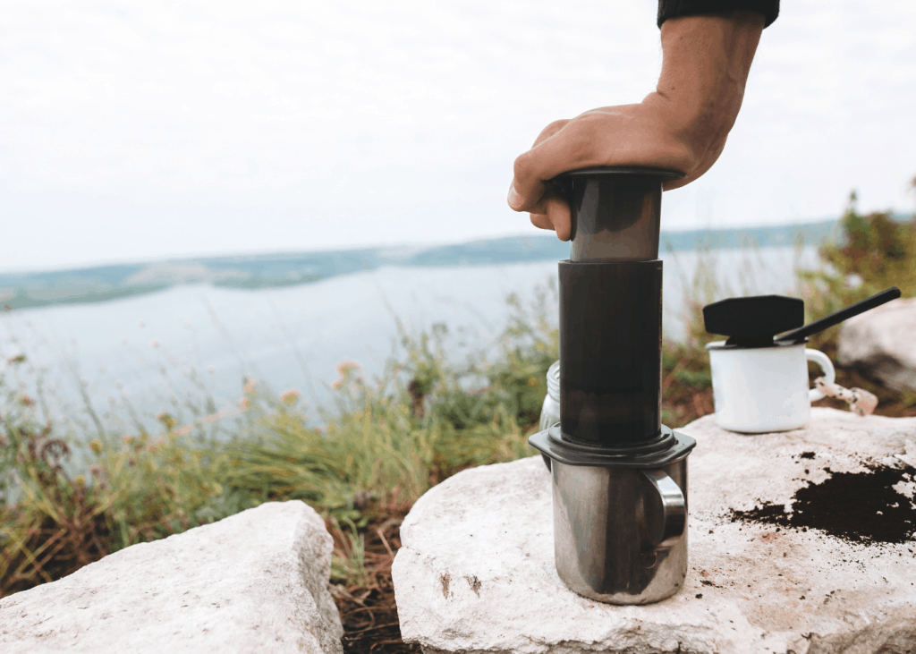 Aeropress camping coffee press