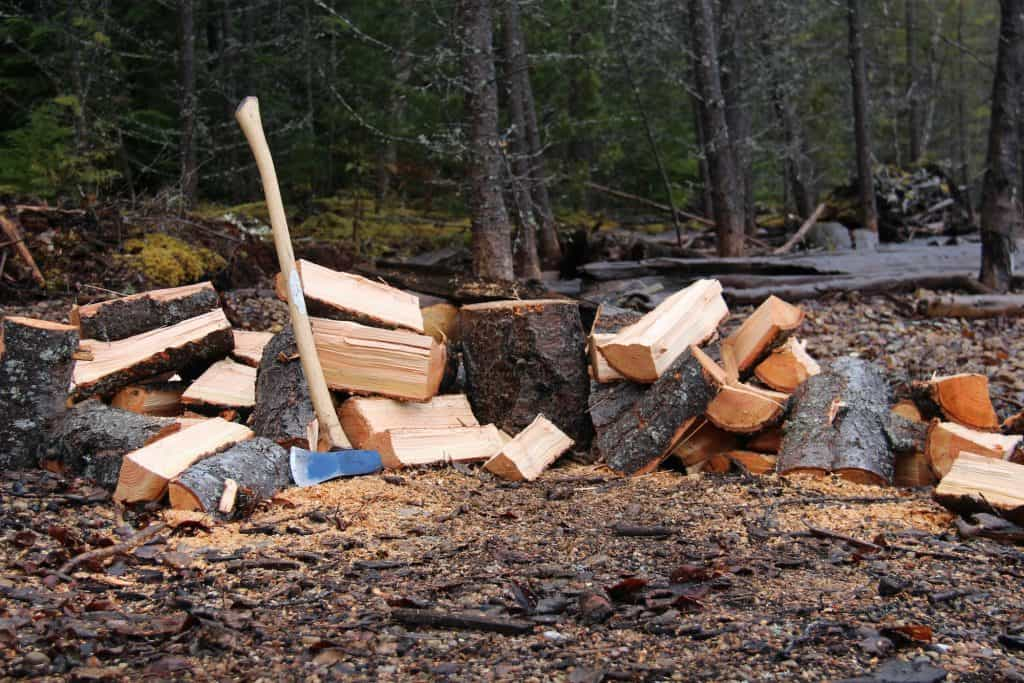 Splitting Wood in the Forest with an Axe