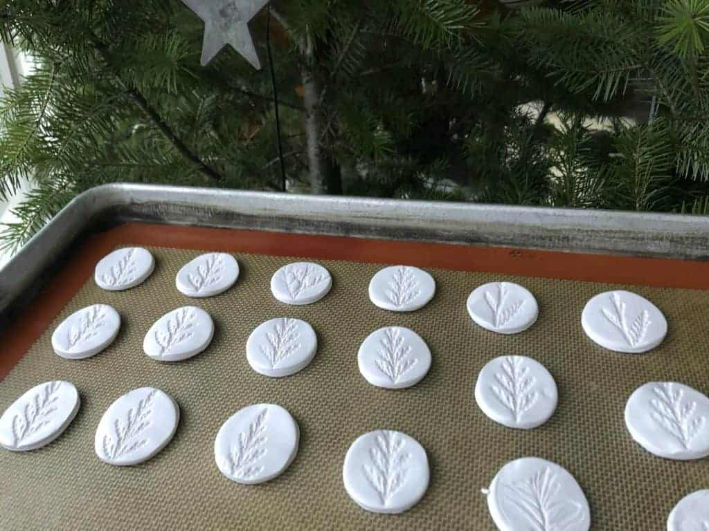 polymer clay christmas ornaments - going to bake in oven