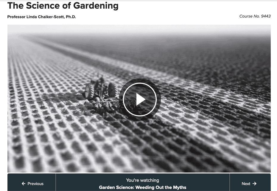online gardening course - the science of gardening - great courses